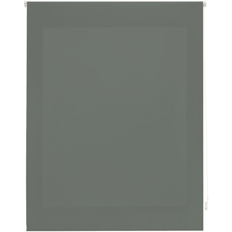Estor enrollable traslúcido liso gris pastel