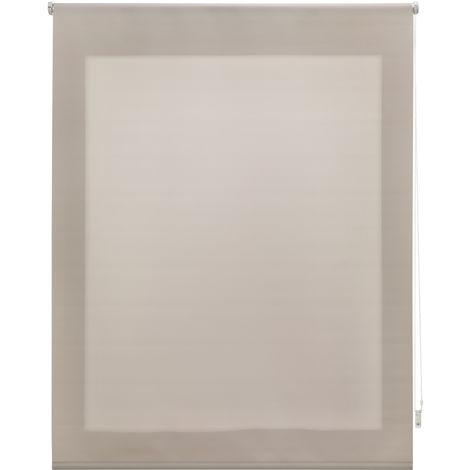 Estor enrollable traslúcido liso marfil 100x175 cm (ancho x alto)