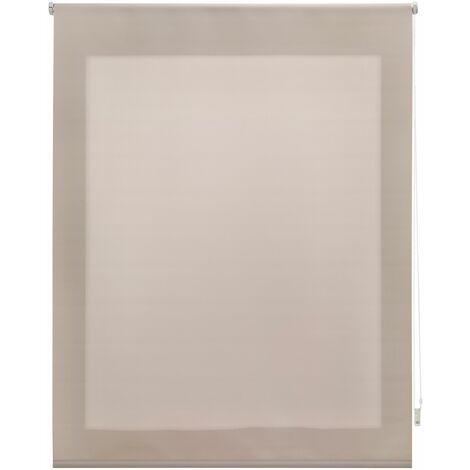 Estor enrollable traslúcido liso marfil 140x250 cm (ancho x alto)