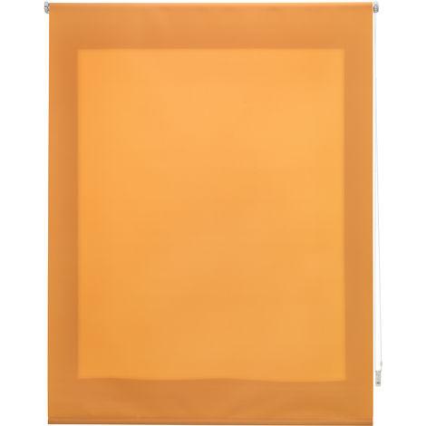 Estor enrollable traslúcido liso naranja 160x250 cm (ancho x alto)