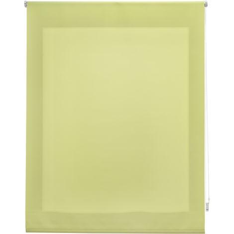 Estor enrollable traslúcido liso pistacho 100x250 cm (ancho x alto)