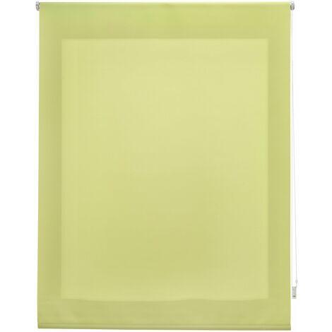 Estor enrollable traslúcido liso pistacho 120x175 cm (ancho x alto)