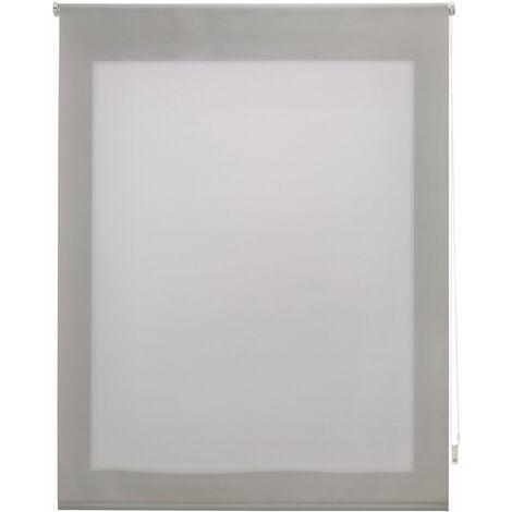 Estor enrollable traslúcido liso plateado 140x175 cm (ancho x alto)