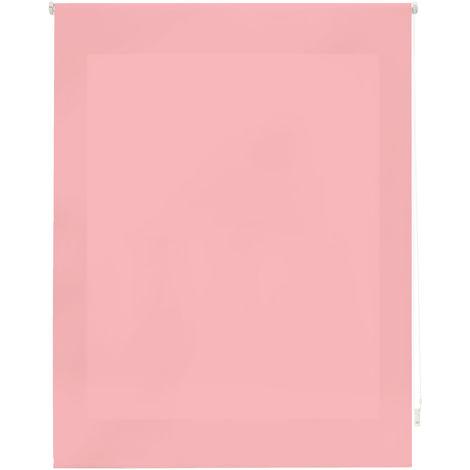 Estor enrollable traslúcido liso rosa