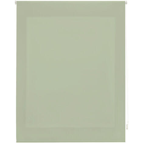 Estor enrollable traslúcido liso verde pastel