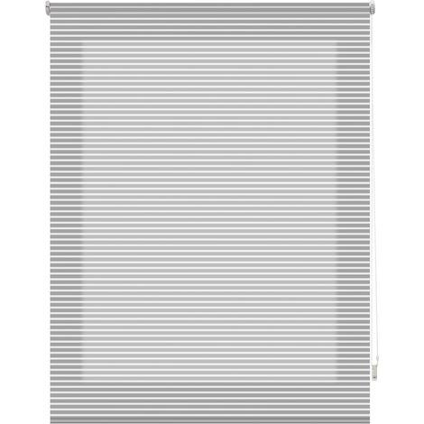 Estor enrollable traslúcido listado - gris