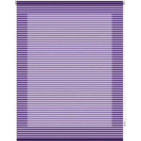 Estor enrollable traslúcido listado - violeta