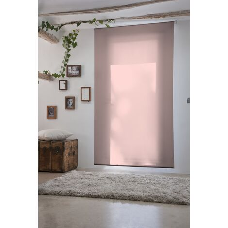 Estor Enrollable Traslúcido Rosa 130x230Cm - Ancho x Largo