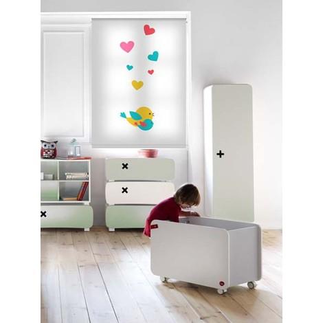Estor infantil con dibujos impresos - 120x160