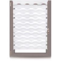 Estor Noche y Día Ondas, Sin Taladrar, Poliéster-Aluminio, Ancho Tela 106 cm, 110 x 150 cm, Blanco