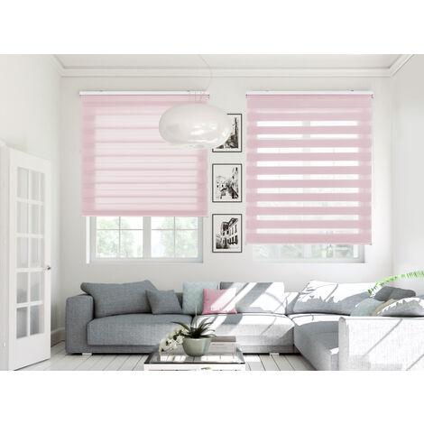Estor Noche y Dia traslucido rosa - 160x180 cm (ancho x alto)