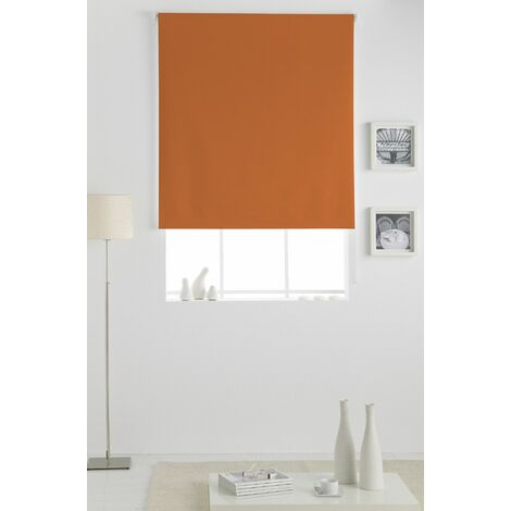 Estor Opaco Enrollable Naranja 110x230Cm - Ancho x Largo, Estor dormitorio, Estor enrollable cocina, Estor plegable, Estor enrollable, habitación, salón y dormitorio