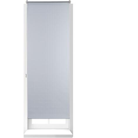 Estor Opaco Enrollable sin Taladrar, Ancho Tejido 56 cm, Tela-Aluminio, 60 x 160 cm, Blanco