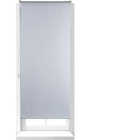 Estor Opaco Enrollable sin Taladrar, Tela-Aluminio, Ancho Tejido 66 cm, 70 x 160 cm, Blanco