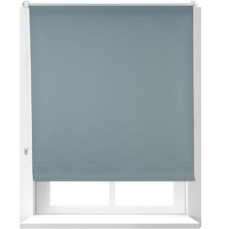 Estor Opaco Térmico, Sin Taladrar, Enrollable, Cadena, 1 Ud, Tela-Aluminio, 110x165 cm, 106 cm Ancho, Gris