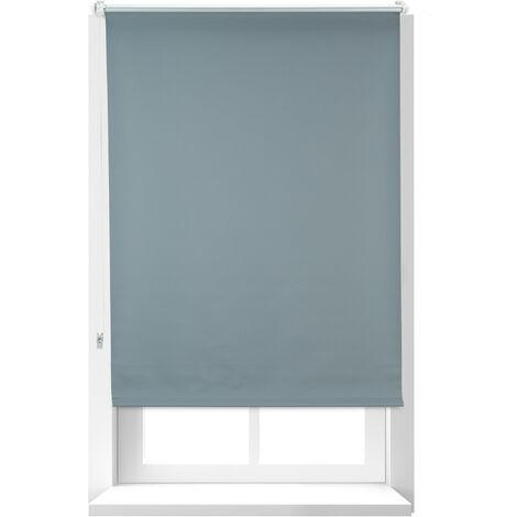 Estor Opaco Térmico, Sin Taladrar, Enrollable, Cadena, 1 Ud, Tela-Aluminio, 80x165 cm, 76 cm Ancho, Gris