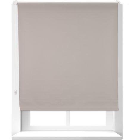Estor Opaco Térmico sin Taladrar, Poliéster-Aluminio-Plástico, 160x106 cm, Marrón