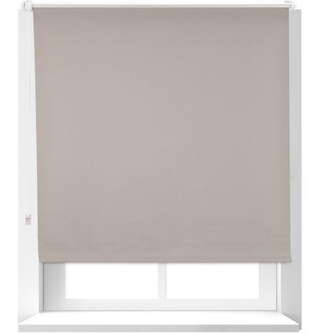 Estor Opaco Térmico sin Taladrar, Poliéster-Aluminio-Plástico, 160x116 cm, Marrón