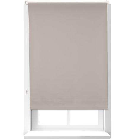 Estor Opaco Térmico sin Taladrar, Poliéster-Aluminio-Plástico, 160x76 cm, Marrón