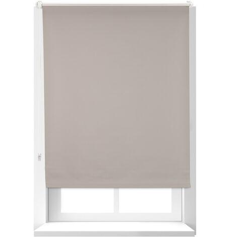 Estor Opaco Térmico sin Taladrar, Poliéster-Aluminio-Plástico, 160x86 cm, Marrón