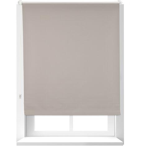 Estor Opaco Térmico sin Taladrar, Poliéster-Aluminio-Plástico, 160x96 cm, Marrón