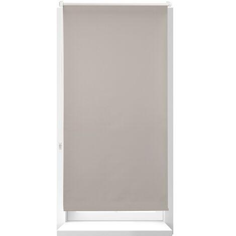 Estor Opaco Térmico sin Taladrar, Poliéster-Aluminio-Plástico, 210x66 cm, Marrón