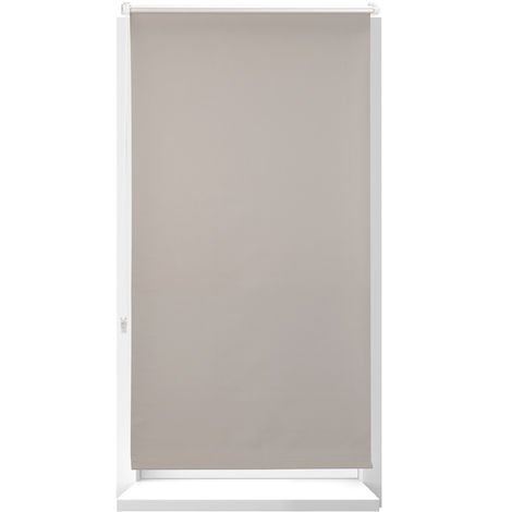 Estor Opaco Térmico sin Taladrar, Poliéster-Aluminio-Plástico, 210x76 cm, Marrón