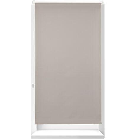Estor Opaco Térmico sin Taladrar, Poliéster-Aluminio-Plástico, 210x86 cm, Marrón