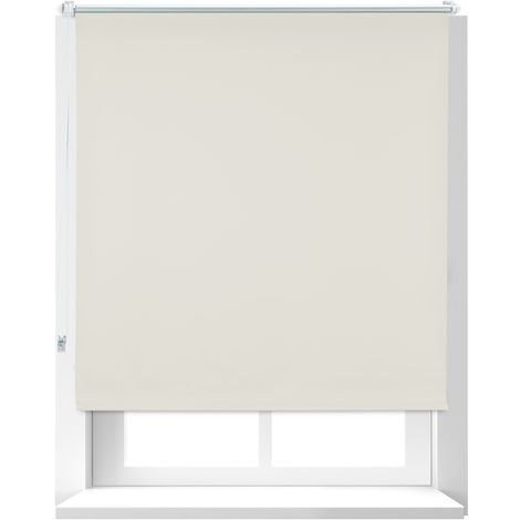 Estor Opaco Térmico, Sistema Klemmfix sin Taladrar, Poliéster-Aluminio-Plástico, 110x160 cm, Beige