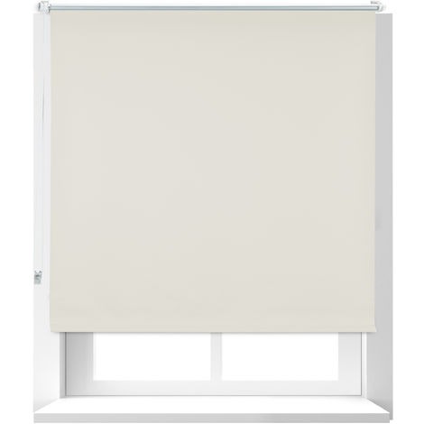 Estor Opaco Térmico, Sistema Klemmfix sin Taladrar, Poliéster-Aluminio-Plástico, 120x160 cm, Beige