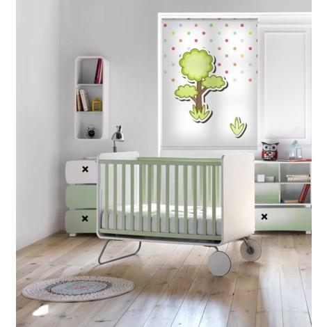Estor para habitación infantil con diseño de animales - 120x160