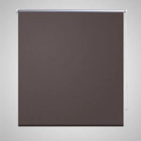 Estor persiana enrollable 140 x 230 cm café - Marrón