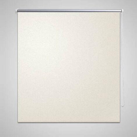 Estor Persiana Enrollable 140 x 230 cm Del Color Blanco - Crema