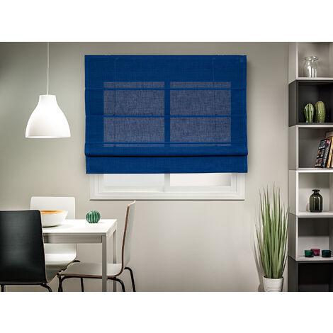 Estor plegable Rústico - Zen (75_x_175_cm, Azul)