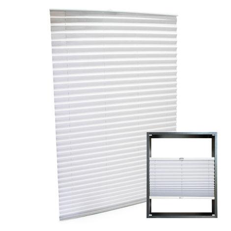 Estor plisado color blanco 45x150cm Persiana interior Cortina enrollable Celosía para ventana