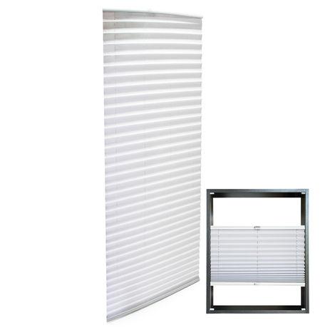 Estor plisado color blanco 55x200cm Persiana interior Cortina enrollable Celosía para ventana
