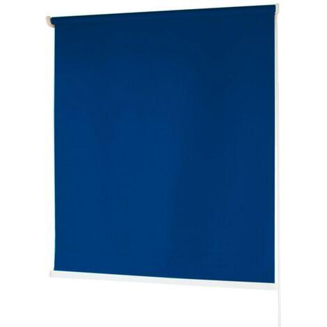 Estores BARATOS Enrollables Poliéster Mecanismo y Cadena en PVC Azul Marino 100x180 cm