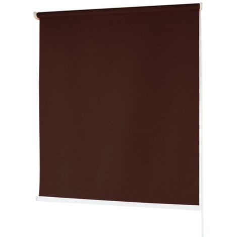 Estores BARATOS Enrollables Poliéster Mecanismo y Cadena en PVC Marron Oscuro 200x180 cm