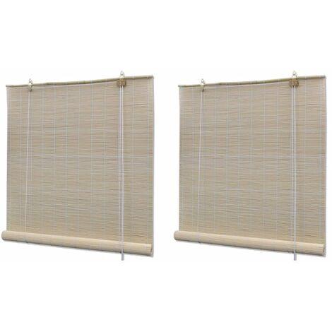 """main image of """"Estores enrollables 2 unidades bambú natural 120x160 cm"""""""