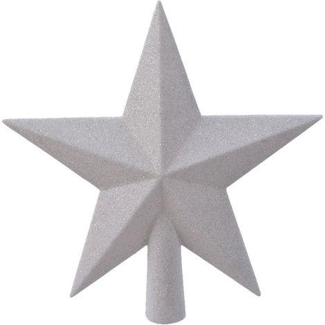 Estrella blanca para arbol de navidad