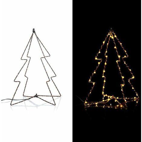 Estrella de metal e hilo de LED adorno de Navidad decoración