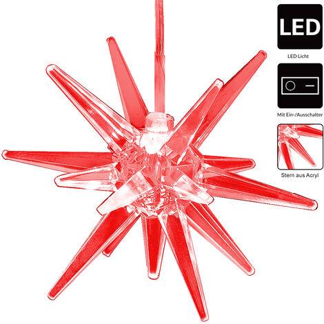 Estrella de navidad a colgar o de pie luz LED de 7 colores diferentes decoración iluminación interior arbol de navidad