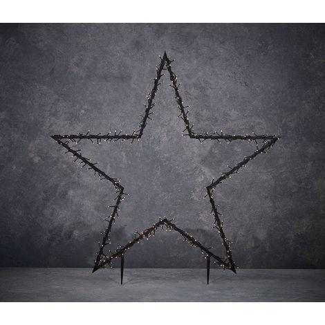Estrella para exterior con guirnalda de 150leds Luz Cálida