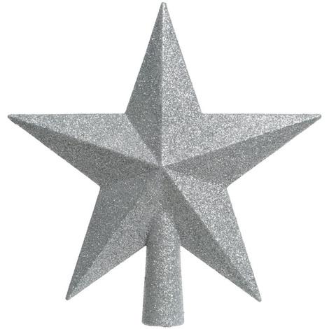 Estrella Plateada Para Arbol De Navidad - NEOFERR