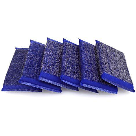Estropajo - esponja de acero inoxidable. Pack 6 uds