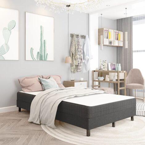 Estructura de cama de tela gris 120x200 cm - Gris