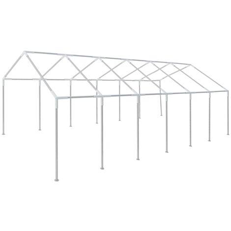Estructura de carpa de fiesta para jardín acero 12x6 m