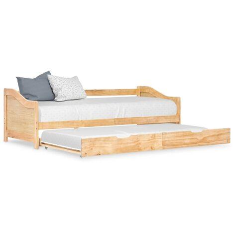 Estructura de sofa cama extraible madera de pino 90x200 cm
