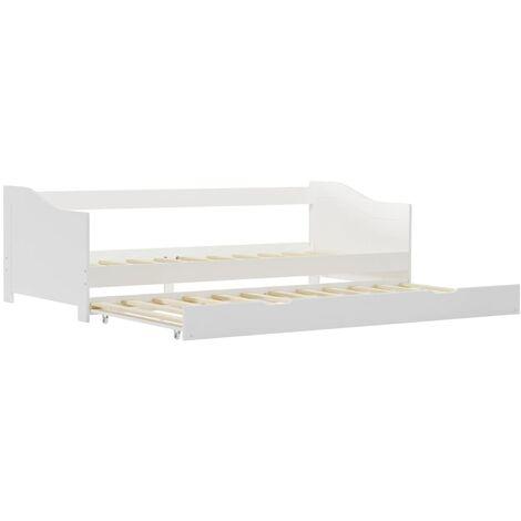 Estructura de sofa cama madera de pino blanco 90x200 cm