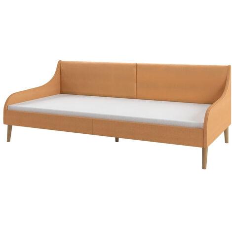 Estructura de sofa cama tela naranja